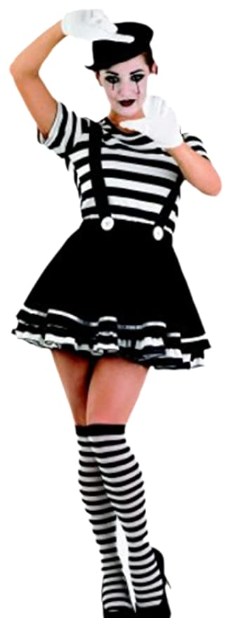 Erdbeerloft Damen Kostum Pantomime Clown Karneval Fasching Xl