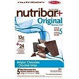 Nutribar Original Nutribar+ Original Meal Replacement Bars, Belgian Chocolate, 5 Bars 5 count