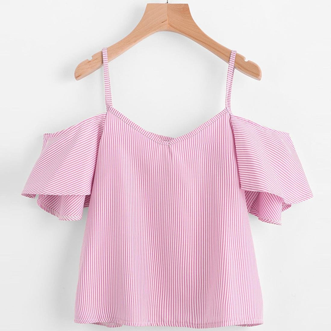 Camisetas mujer,❤️Ba Zha Hei Tops de rayas de mujer Shirt Crop Tops Chaleco para mujer blusa camiseta sin mangas Tank Tops Mujeres Blusas Deportes ...
