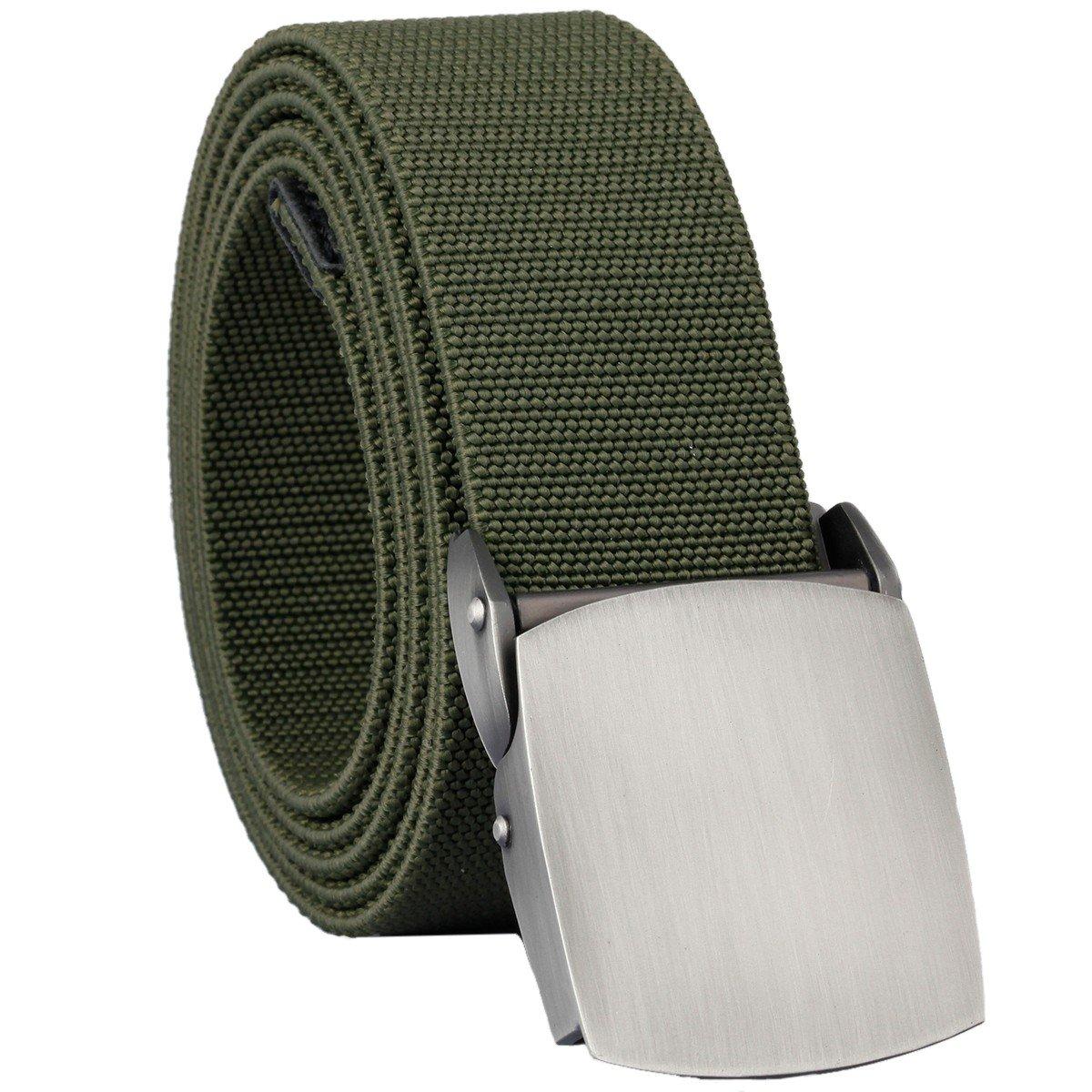 1xMens Outdoor Sports Military Tactical Nylon Waistband Canvas Web Belt Dazzling