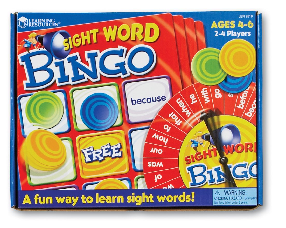 Amazon.com: Learning Resources Sight Words Bingo: Toys & Games