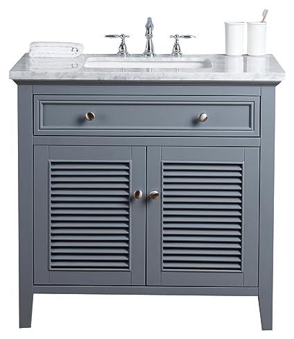 Stufurhome Hd 1300g 36 Cr Genevieve 36 Inch Slate Gray Vanity