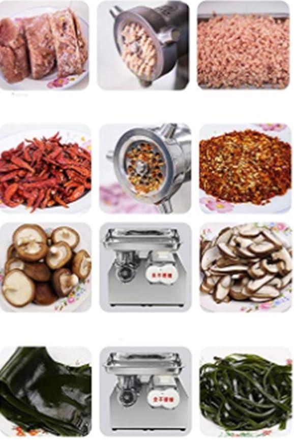 Amazon.com: CGOLDENWALL 661.4 lbs/h 850 W molinillo de carne ...