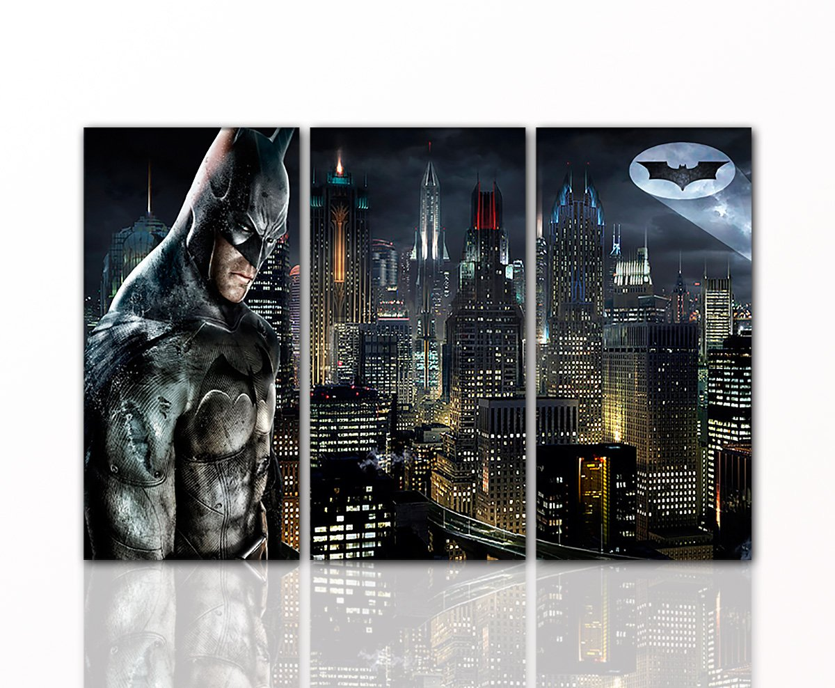Berger Designs Batman Leinwand-Bild by Superhelden Wandgestaltung ...