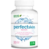 Genuine Health Perfect Skin Blemish with Omega 3 EPA Concentrate, Green Tea Extract, Zinc & Chromium, Non GMO, 120 Count