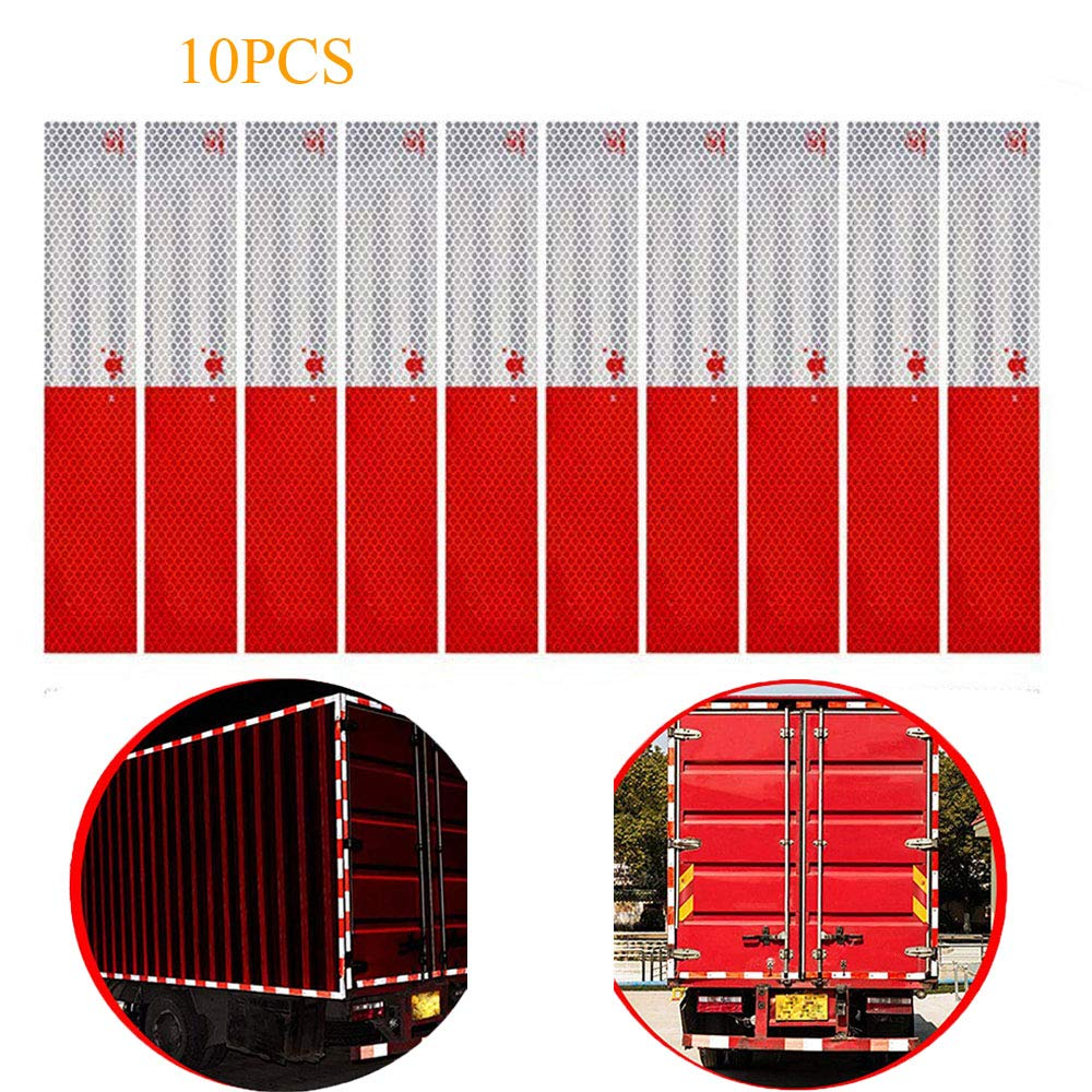 2x Red Reflective Sheeting Warning Remind Tape Stickers For Car Truck Safety
