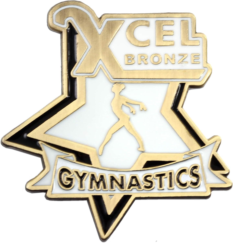 Platinum Gold Diamond or State Championships Bronze Silver Snowflake Designs Xcel Gymnastics Pins