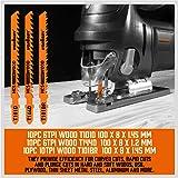 HORUSDY 40-piece Metal & Woodworking Jig Saw