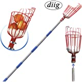 diig Fruit Picker, 8 Foot Fruit Picker Tool with Stainless Steel Connecting Pole, Fruit Picking Equipment for Getting Fruits Lemons Apples Guavas Avocados Pears Mangoes Oranges Citrus