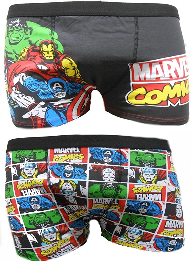 Thor Marvel Iron Man, calzoncillos bóxer para hombre, paquete de 2