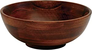 "Lipper International 273 Cherry Finished Footed Serving Bowl for Fruits or Salads, Small, 7"" Diameter x 2.75"" Height, Single Bowl"