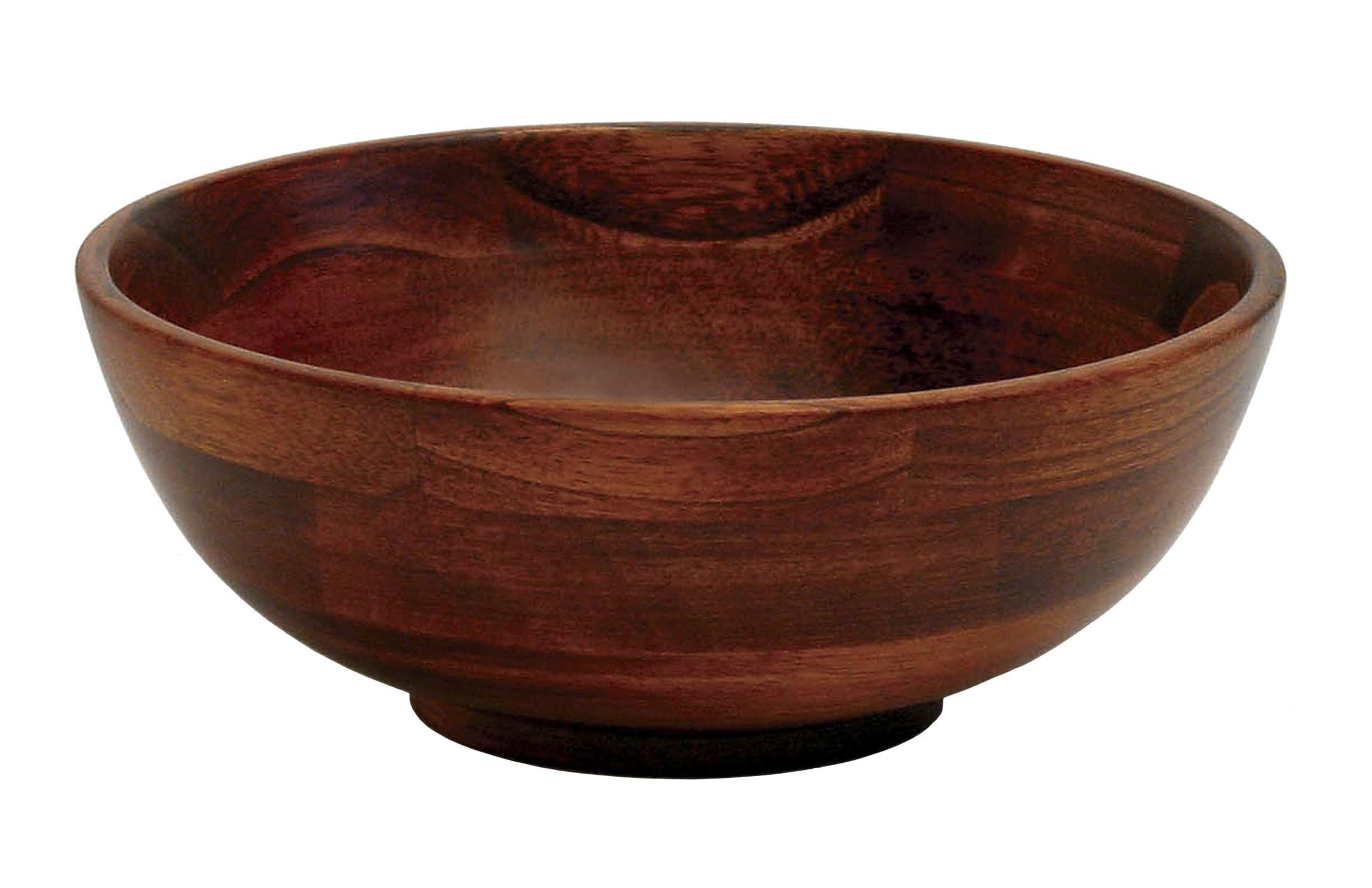 Lipper International 273 Cherry Finished Footed Serving Bowl for Fruits or Salads, Small, 7'' Diameter x 2.75'' Height, Single Bowl
