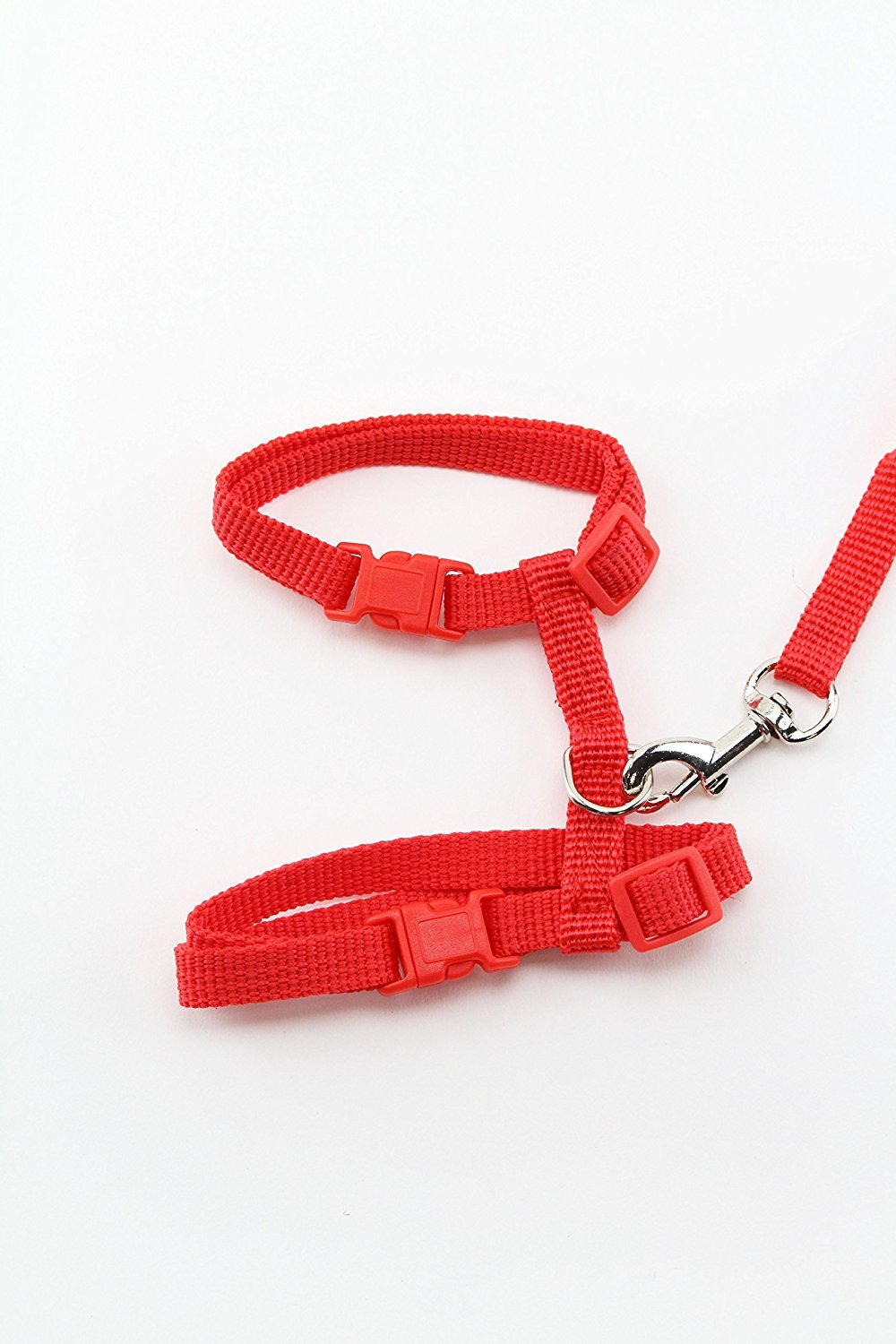 Red Midlee Adjustable Nylon Cat Harness & Leash by (Red)