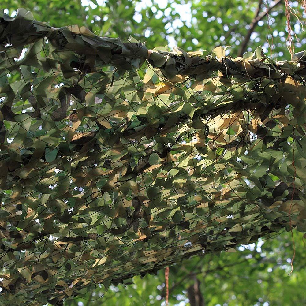 Taille : 2x3m DGLIYJ Filet de Camouflage Jungle Wild Green D/écoration Filet de Camouflage