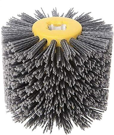 5 Inch 240# Abrasive Wire Drawing Wheel Drum Burnishing Brush For Wooden Polishing 120mm
