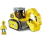 Cat Construction Build Your Own Junior Crew Excavator Building Toy, Yellow (80903)