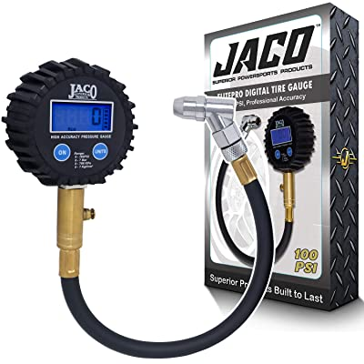 JACO ElitePro Digital Tire Pressure Gauge - Professional Accuracy - 100 PSI: Automotive