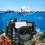 Sea Frogs 60m/195ft 水中カメラケース ソニー Sony a6000 a6300 a6500 防水ケース 防水ハウジング 保護ケース 防水プロテクター 水中撮影用 国際防水等級IPX8