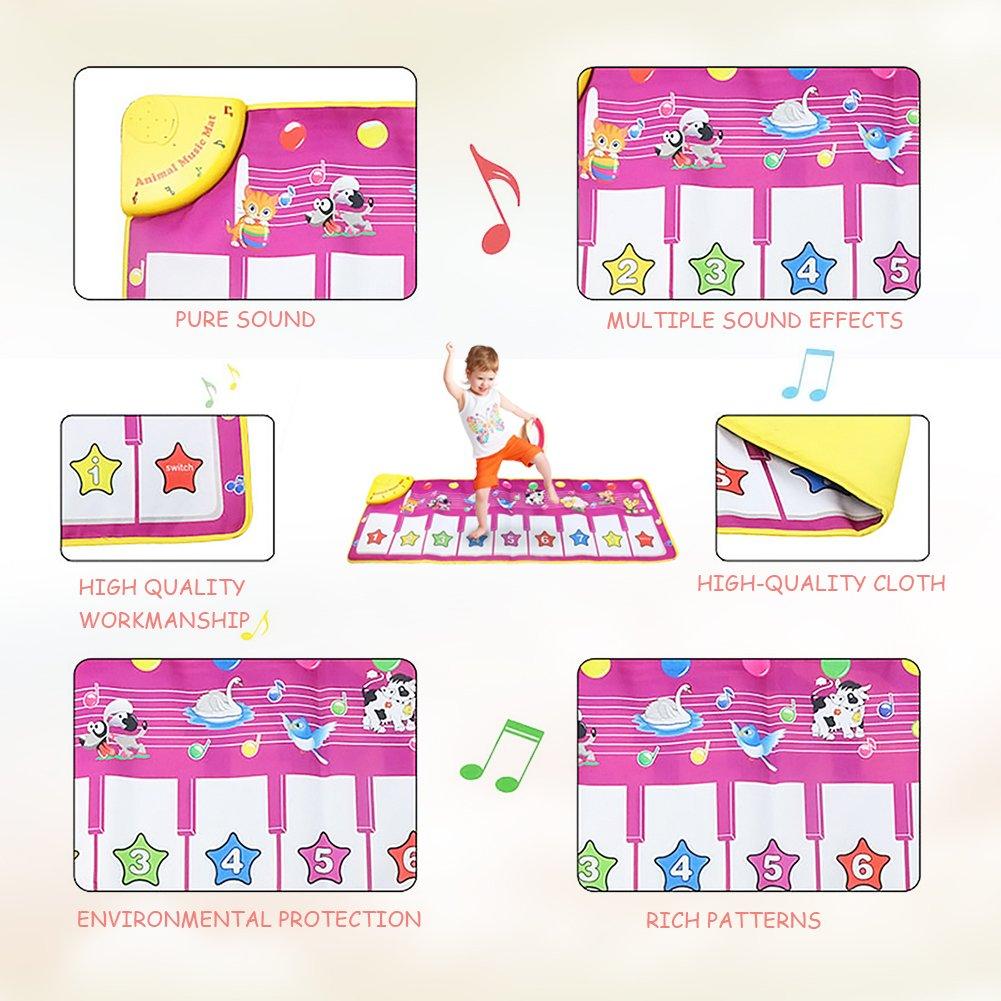 Surenhap Musical Alfombra Beb/é M/úsica Cantando Gimnasio Alfombra Mat para de Teclado de Piano para beb/é Floor Mat Alfombra para el Regalo del beb/é
