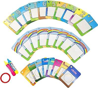 Amazon.com: Kuiji - Tarjetas reutilizables para colorear ...