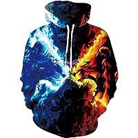 Uideazone Unisex 3D fleece hoodie sweatshirt winter pullover hoodie fantasy sweatshirts voor heren dames