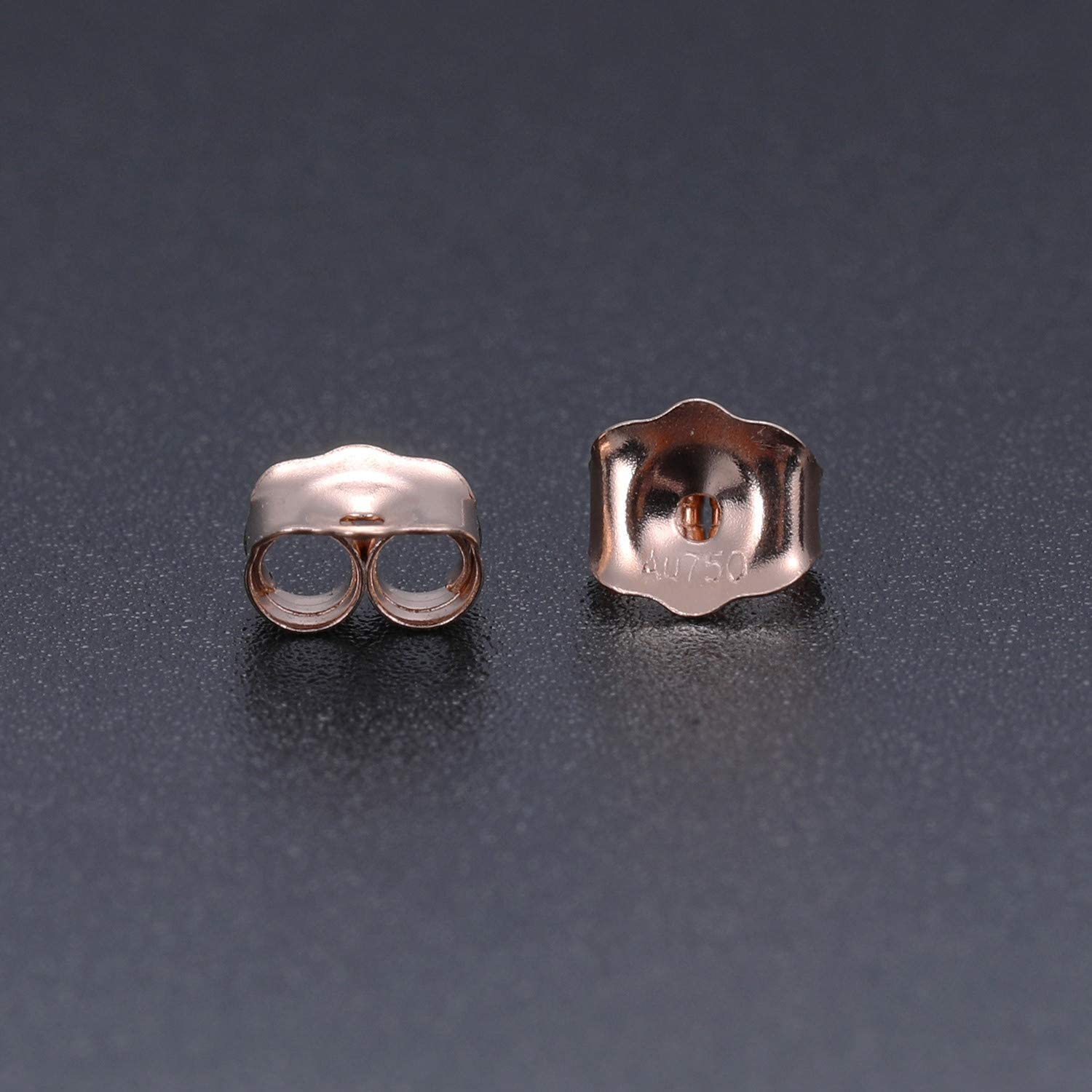 Earring Backs 18K Gold//White Gold//Rose Gold Earring Backings Hypoallergenic Butterfly Ear Extra Post Findings Safety for Studs