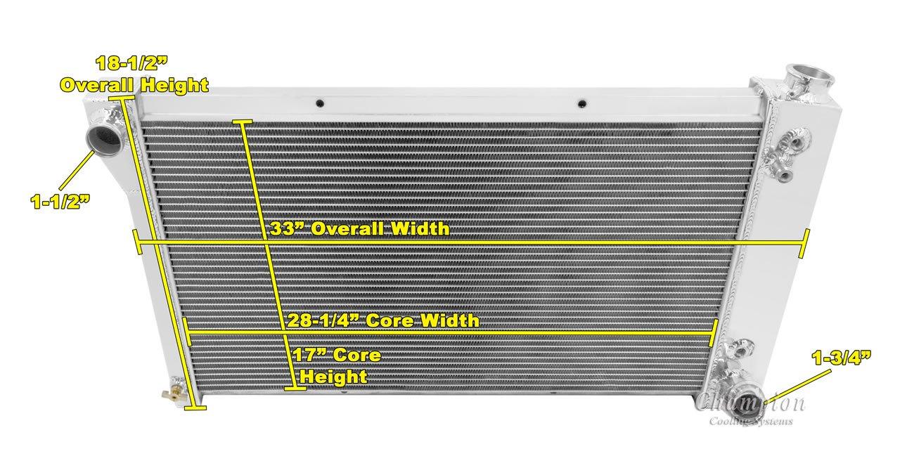 3 Row Radiator Aluminum 2 14 Fans For Chevy Blazer 99 Battery Isolator Wiring Blazerjimmyc K Series Pickup Truckssuburban Enginessee Description Below