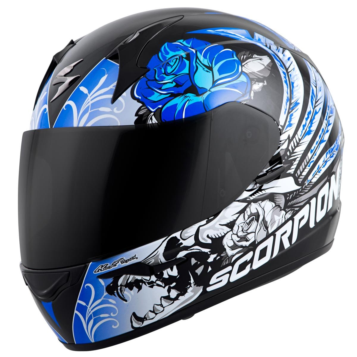 Amazon.com: Scorpion EXO-R410 Novel Street Motorcycle Helmet (Black/Blue, X-Small): Automotive