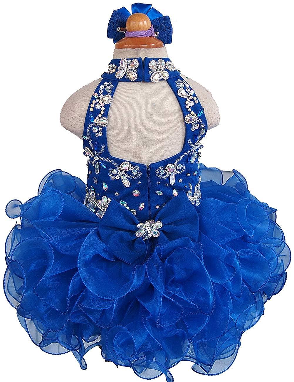 Jenniferwu Infant Toddler Baby Newborn Little Girls Pageant Party Birthday Dress G284-6 Blue Size 4T