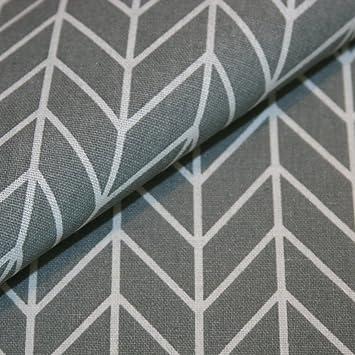 Canvas-Stoff Geometrisch Gemustert Baumwolle Meterware - grau mit ...