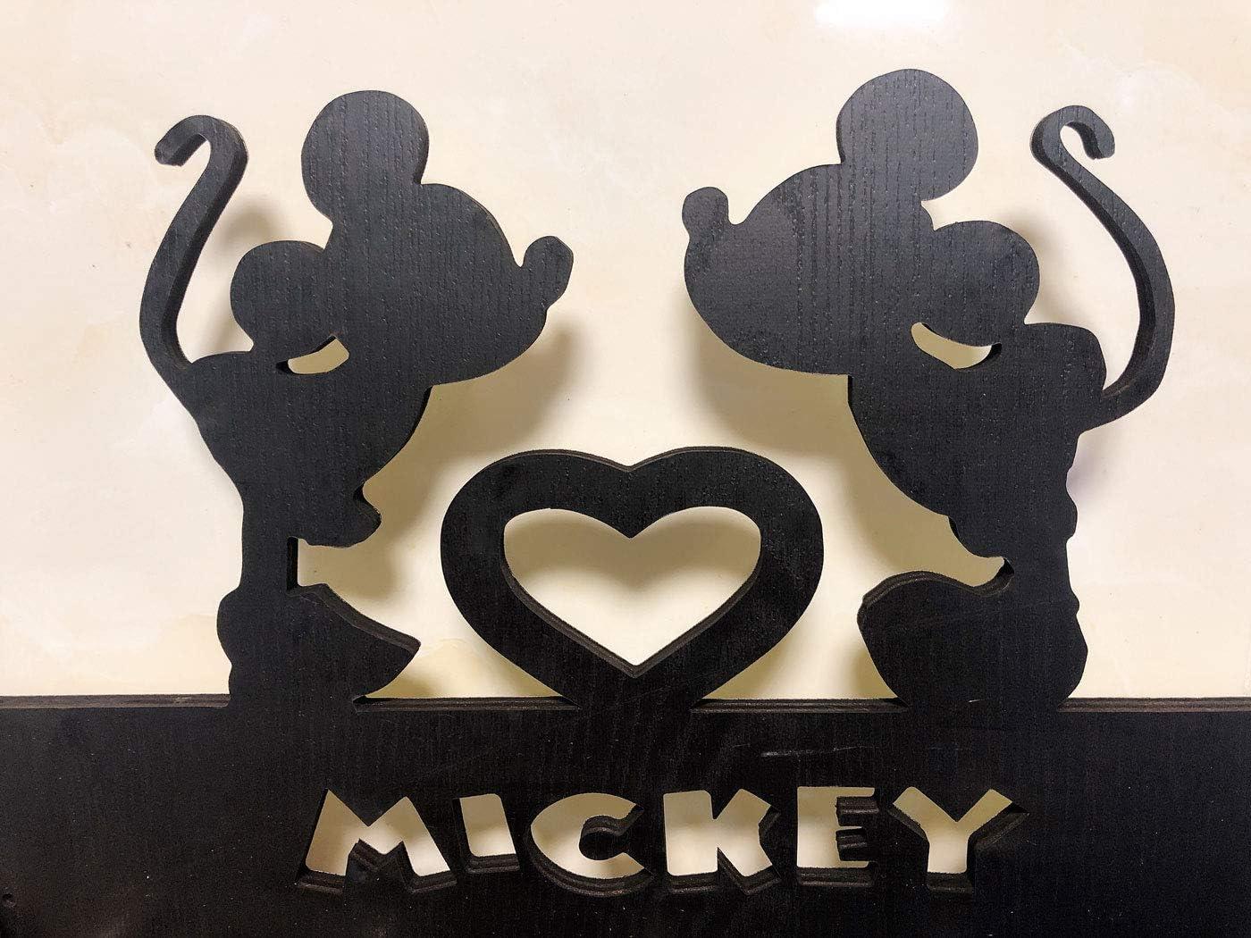 Max Mick Door Hooks,Disney Mickey Mouse Cartoon Animation Coat Hooks,Key Holder,Key Hanger for Wall、Entryway and Living Room Unigue Gift-5 Hooks-20LB