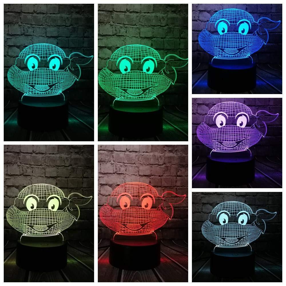 3D Night Light Teenage Mutant Ninja Turtles Figure Modern ...