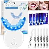 Blanqueador Dientes Profesional, Kit Blanqueamiento Dental Kastiny con Luz LED, 6 Gel Blanqueador de Dientes y 5Pcs…