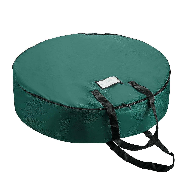 36 Wreaths Green Tiny Tim Totes 83-DT5579 Premium Holiday Christmas Bag with Bonus Center Storage