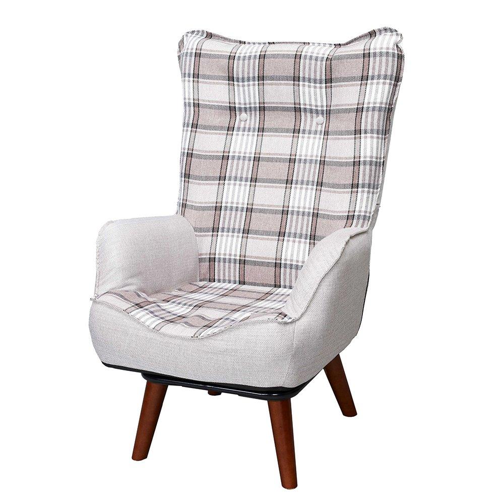 ドウシシャ 高座椅子 1人掛けソファー ハイバック 座椅子 立ち座りラクラク 座面回転式 ブラウン NKHR-BR B01HEUUUAS ハイバック ブラウン