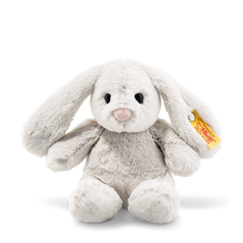 Steiff Soft Cuddly Friends Hoppie Hase Kuscheltier, hellgrau 080463