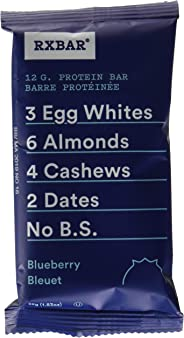 RXBAR Whole Food Protein Bar, Blueberry, 12 Count, 52g