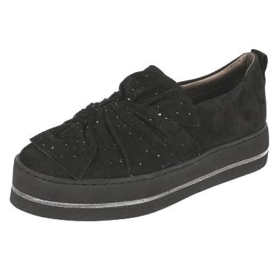 Maripe Plateau Sneaker aus Veloursleder in Schwarz mp 24944