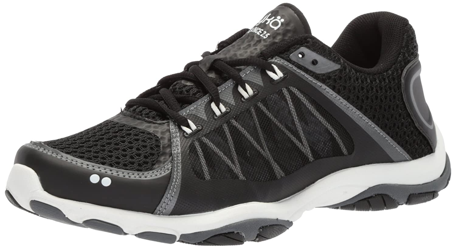 Ryka Women's Influence 2.5 Cross Trainer B0757FC678 8.5 W US|Black/Meteorite/White
