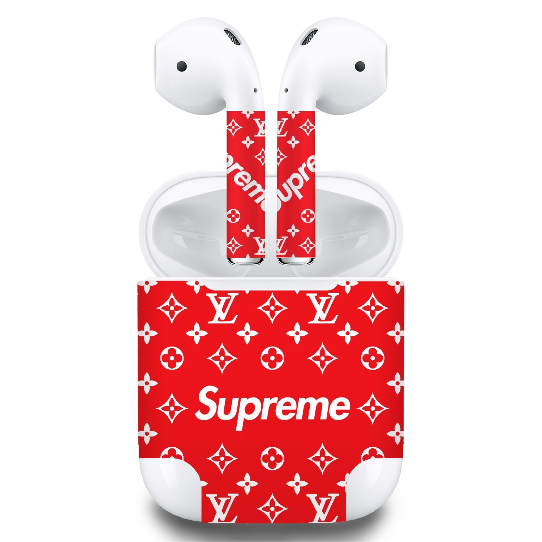 Premium Vinyl Skin Sticker for Apple Airpots (Red)