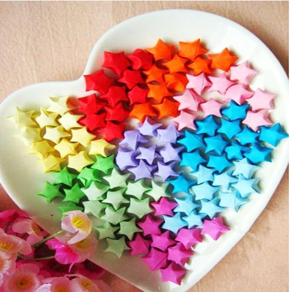 Confezione da 1030/strisce di carta adatte per fare origami a forma di stella e per il fai da te in 27/colori
