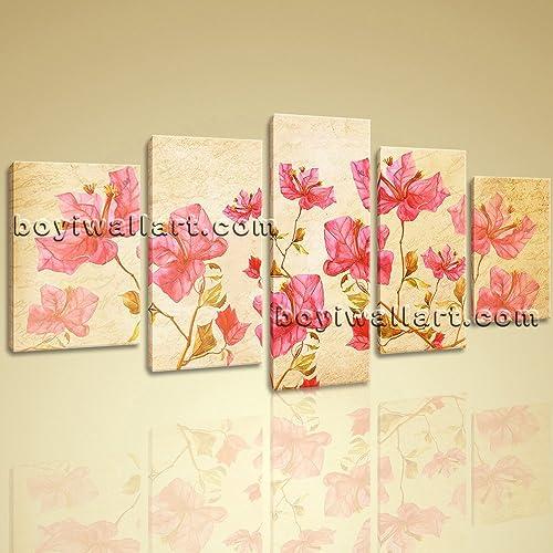 Amazon.com: Large Elegant Poppy Canvas Print Wall Art Contemporary ...