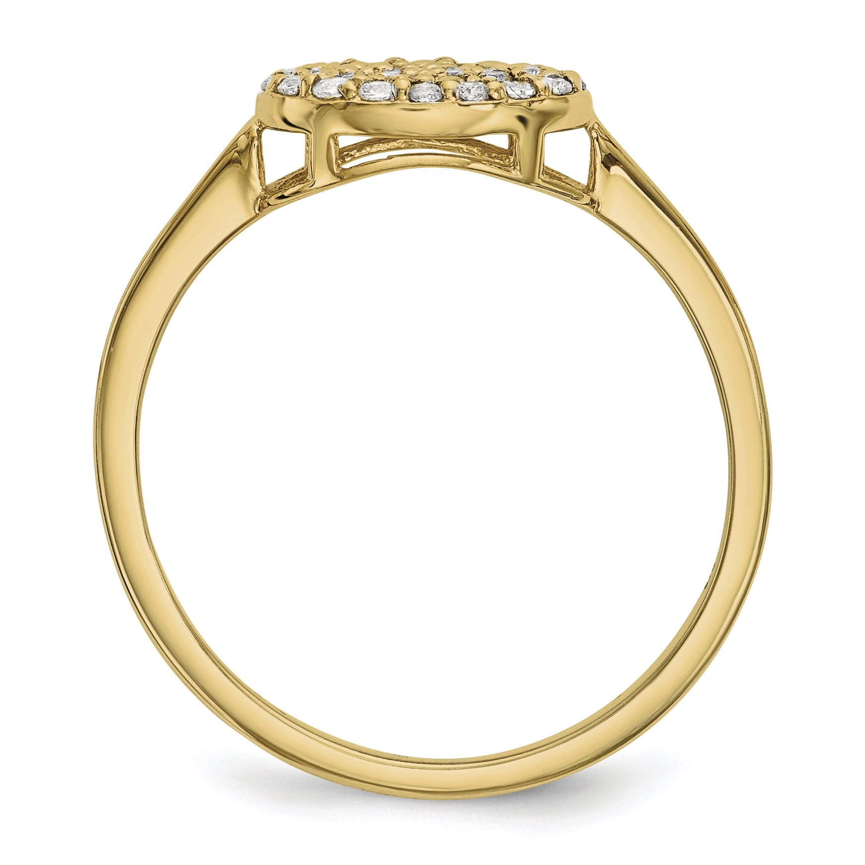 ICE CARATS 14k Yellow Gold Diamond Cluster Oval Band Ring Size 7.00 Fine Jewelry Gift Set For Women Heart by ICE CARATS (Image #2)