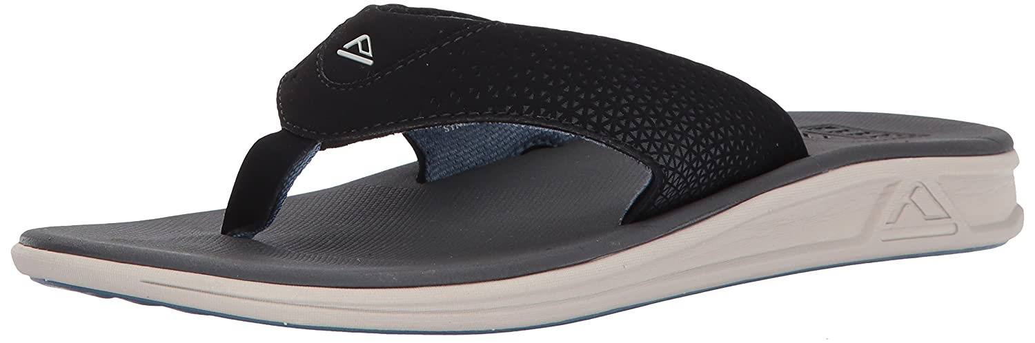 Reef Mens Sandals Rover | Athletic Sports Flip Flops For Men With Soft Cushion Footbed | Waterproof B01N0Q5KMW 10 D(M) US|Silver/Blue