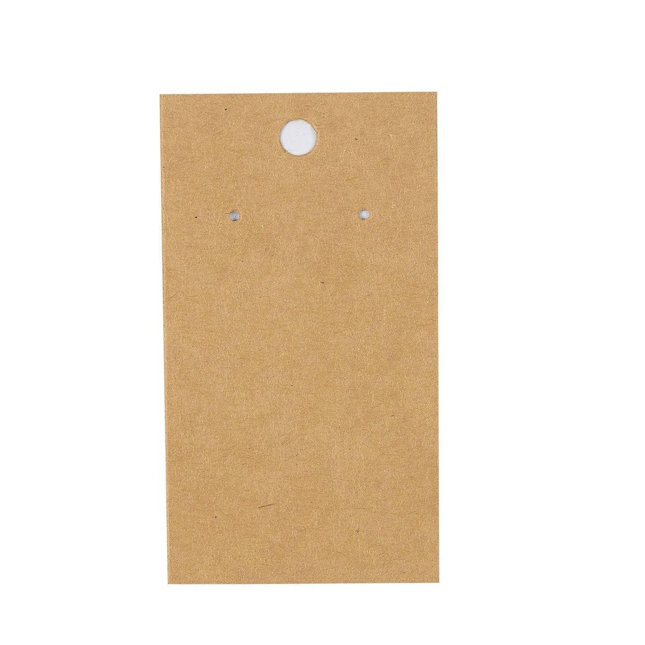 8,89 cm x 5,08 cm Paquete de 200 tarjetas de exhibici/ón para pendientes