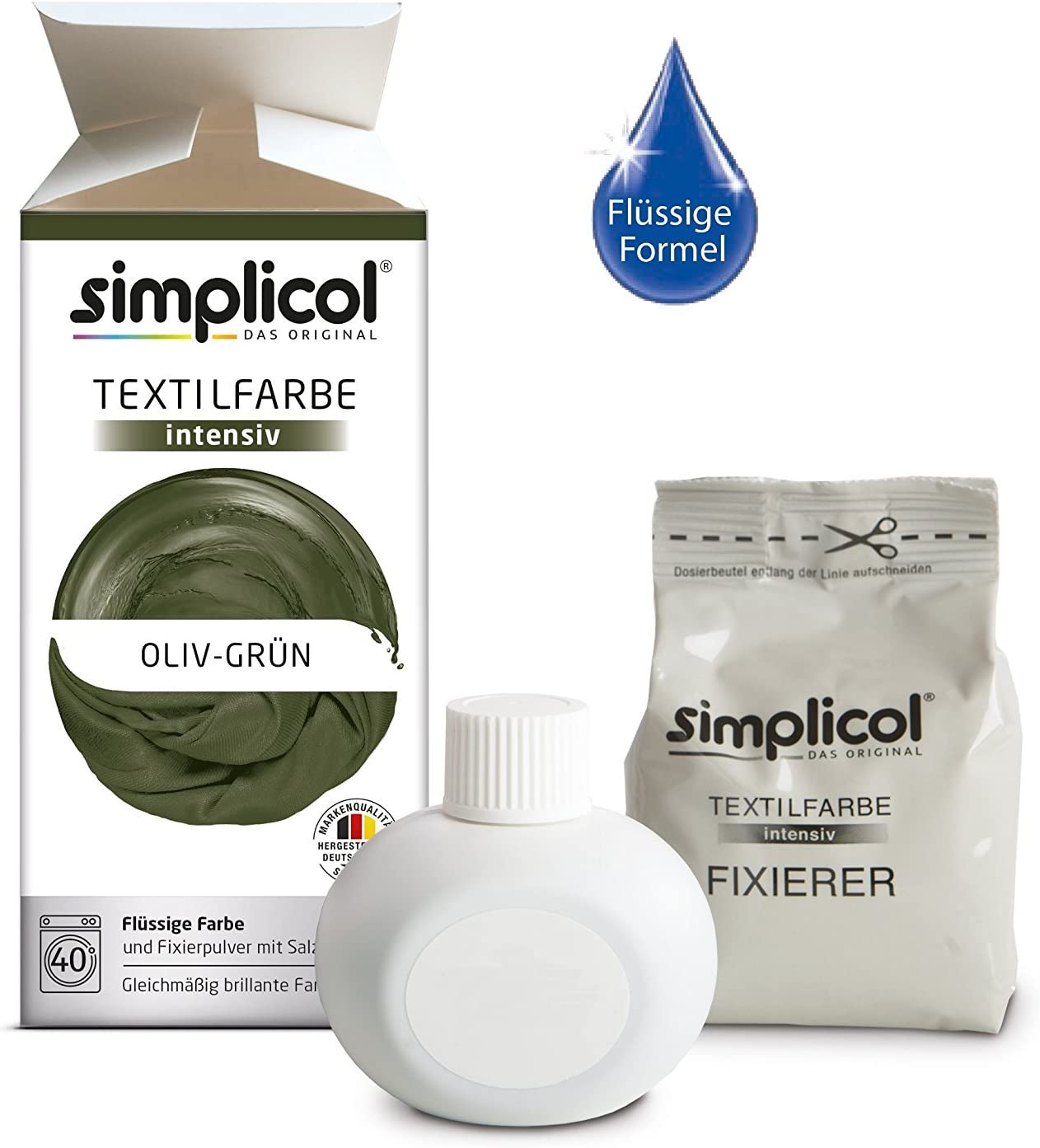 Simplicol Kit de Tinte Textile Dye Intensive Verde : Colorante ...