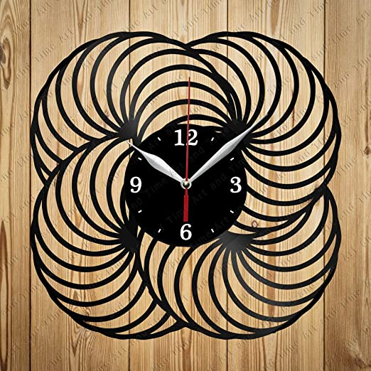 Acorn Vinyl Wall Clock Record Unique Design Home and Living Room Decoration