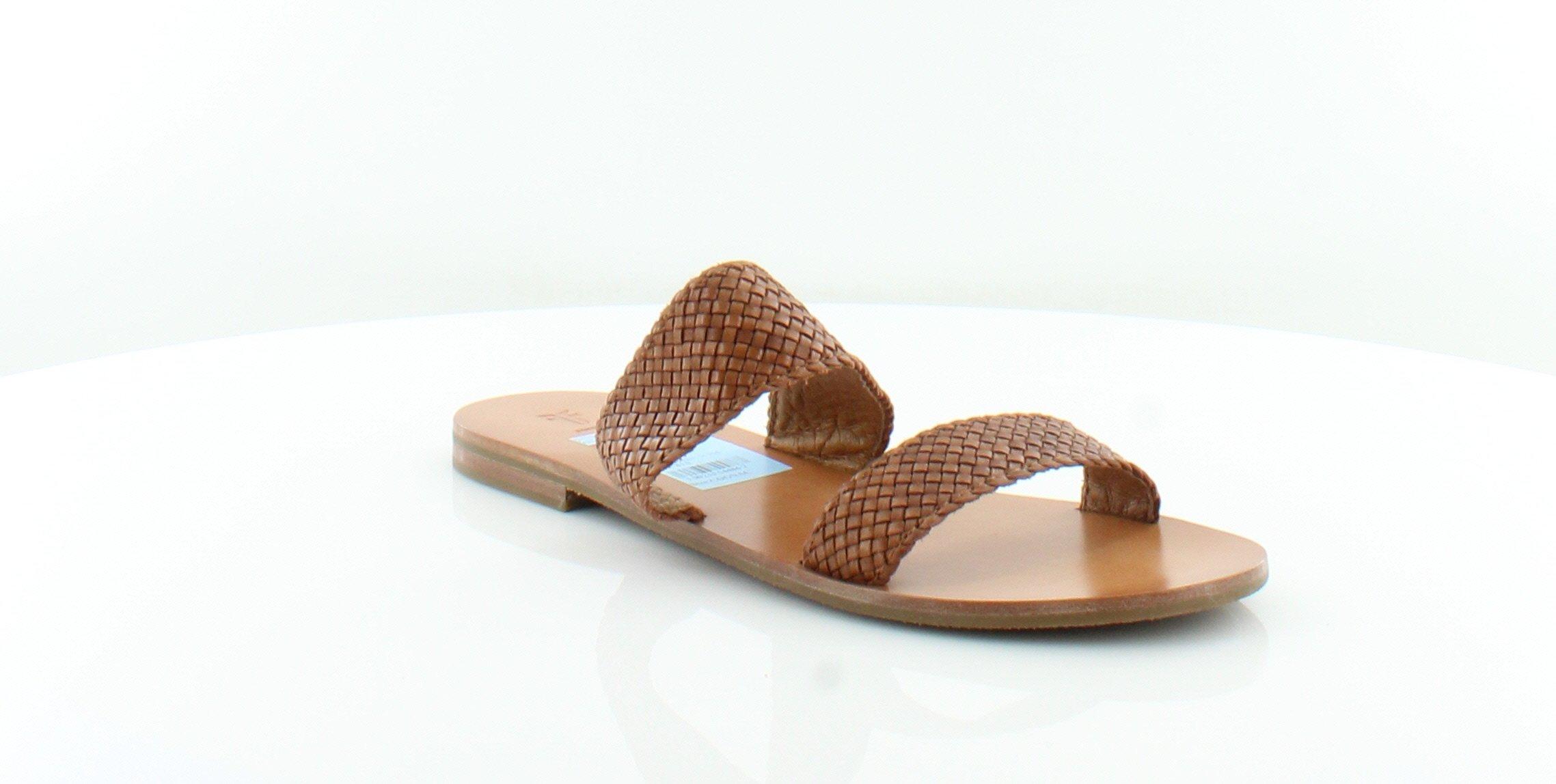 FRYE Women's Ruth Woven Ankle Gladiator Sandal, Cognac, 9.5 M US