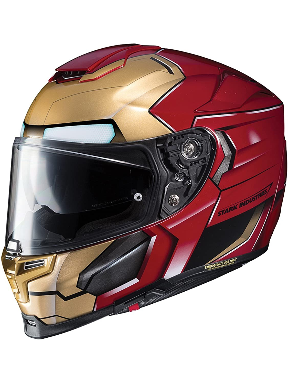 Casco Moto Hjc Marvel Rpha 70 Ironman Homecoming Rojo-Oro (L , Rojo): Amazon.es: Deportes y aire libre