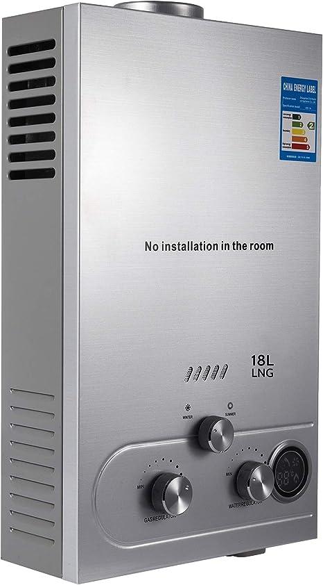 VEVOR Calentador de Gas 6L/8L/10L/12L/16L/18L, Calentador de Agua de Gas Natural, Calentador de Agua a Gas LNG, Calentador Gas, Calentador de Agua ...
